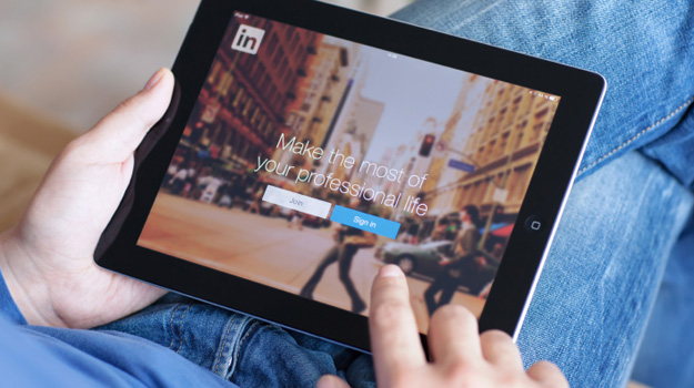 LinkedIn on Tablet